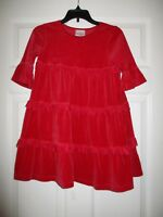 Hanna Andersson 110 Red Velour Dress Love to Twirl Winter Holiday 4 5 6 #pd3