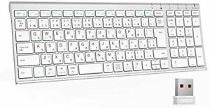 iClever wireless keyboard wireless 2.4G Japanese JIS row rechargeable USB conne