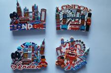STUNNING 3D CERAMIC FRIDGE MAGNET SET OF 4 LONDON ICONS SOUVENIR FREE POSTAGE