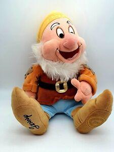 "Disney HAPPY Soft Plush 15"" Snow White Dwarf- Disney Store Collectable for Jenny"