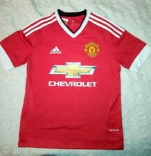 2015/2016 Manchester United Adidas Home Shirt Jersey Boys *13/14 Years* Man Utd