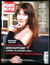 Magazine Point de Vue 3/12/2014; Entretien avec Carla Bruni-Sarkozy/ Valentino