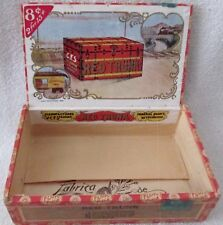 Red Trunk Tobacco box complete interior labels excellent condition