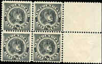 Mint NH Canada Newfoundland 1894 F+ Scott #58 Block of 4 Stamps