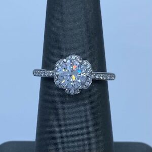 A. Jaffe 14kt white gold engagement ring style ME1622 / 130