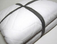 West Elm White Off White Cotton Deco Stitch King Quilt New
