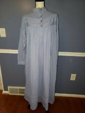 NWT Vermont Country Store Women's size SMALL Pastel Blue Long Cotton Nightgown