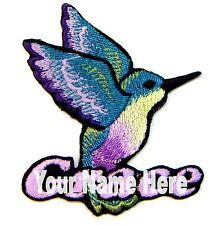 Hummingbird Custom Iron-on Patch With Name Personalized Free