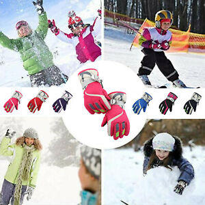 For Kids Boys Girls Ski Gloves Warm Waterproof  Breathable Sports Snow Gloves
