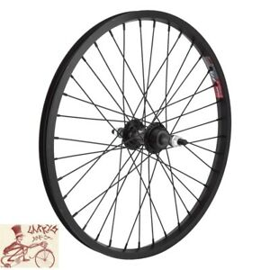 "WHEELMASTER  MTB FREEWHEEL 5/6/7 SPEED 20"" x 1.75""  BLACK BICYCLE REAR WHEEL"