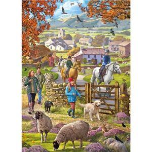 1000 piece Jigsaw Puzzle   Autumn Countryside   Farm Animal Puzzle   Brand New