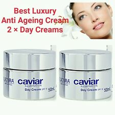 2 × BEST ANTI AGEING CREAM HYALURONIC ACID EXTRACT CAVIAR DAY CREAM