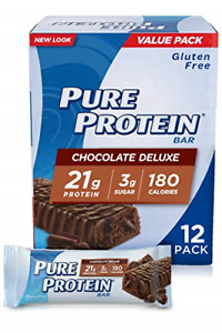 Pure Protein Bars, High Protein Gluten Free Bar, Chocolate Deluxe, 1.76 Oz Bars,
