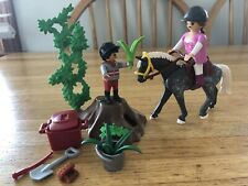 Playmobil Mother And Son Horse Care Ownership Training Ethnic