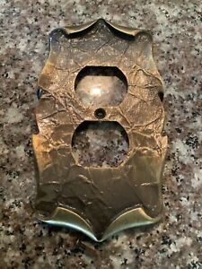 Amerock Carriage House Electric Outlet Cover Plate Antique Brass Vintage
