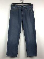 PHAT FARM Men's Jeans Straight Fit Medium Blue Waist 33 Length 28