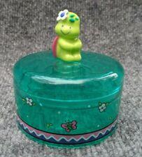 Vintage Sanrio 1991 Kimi Kameleen Turtle Twist Lock Round Box Trinket Rare HTF
