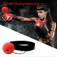 US Fight Ball Reflex Boxing Trainer Training Boxer Speed Punch Head Cap String