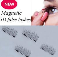4Pcs/2 Pairs 3D Magnetic False Eyelashes Natural Eye Lashes Extension Fashion