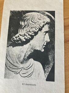 Rare St Raphael Prayer Card 1929 Catholic Traditional Picture Card