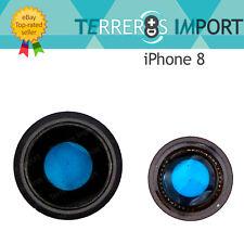 Lente Completa Cristal Cámara Trasera Embellecedor para iPhone 8 Negro Black