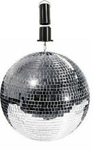 QTX MB-30 Rotating Mirrorball Glitter Glass Ball Retro Disco Party 30CM + Motor