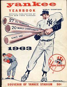 1963 New York Yankees Yearbook VG-EX