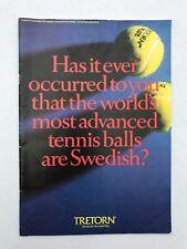 Tretorn Tennis Balls Product History Brochure tennis the Swedish Way