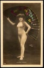 French Erotic c1910- Nude Woman in Modesty Body Stocking - Lucienne D'Armoy - RP