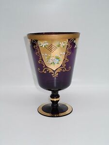 Antique Russian Glass Chalice