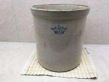 Antique Blue Crown 5 Gallon Stoneware Crock