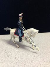VINTAGE 1940'S LEAD SOLDIER ON WHITE HORSE - ENGLAND