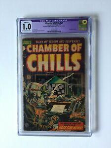 Chamber of Chills #21 CGC * 1.0 Restored * 1954 * Grail 🔥 🔑