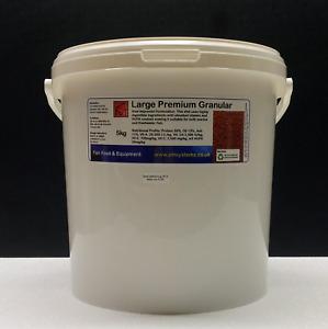 5 KG ZM LARGE PREMIUM GRANULAR fish food discus tilapia carp aquaponics