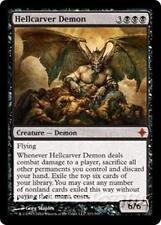 HELLCARVER DEMON Rise of the Eldrazi MTG Black Creature — Demon MYTHIC RARE