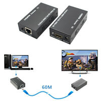1080P 3D HDMI Network Extender Over Single Ethernet Cat 5E/6 Ethernet Cable 60M