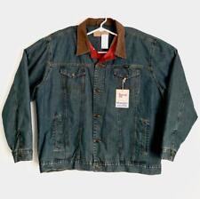 NWT Men's Wrangler Cowboy Cut Denim Jacket - Inside Pockets XLT