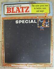 *Rare 1950's BLATZ BEER SIGN Beer Man Chalkboard Advertising draft-brewed RaIsEd