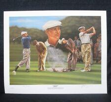 "Ben Hogan ""1953"" Masters US / British Open Golf Alan Zuniga Lithograph"
