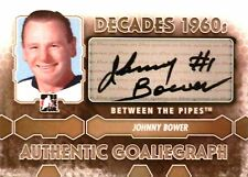 12-13 pipes decades 1960s goaliegraph johnny bower maple leafs autograph auto