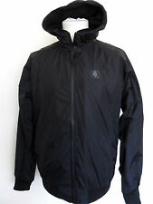 SUPREMEBEING Men's Hooded Wind Cheater Jacket Black Coat Size: XXL Covert