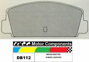 BRAKE PADS DB112 TO SUIT  SUBARU, Daihatsu 1976-ON