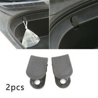 2pcs Auto Front Trunk ABS Black Hook Car Pendant For Tesla Model 3
