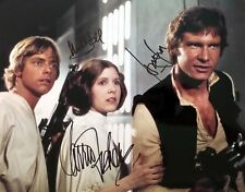 Star Wars Cast Ford Fisher & Hamill Autographed Awesome 8.5x11 Photo