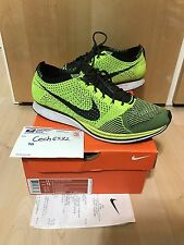 2012 Nike Flyknit Racer Black Volt Olympics London Trainer Sample HTM NRG MULTI