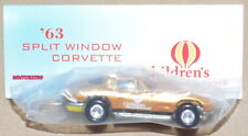 HOT WHEELS 8TH ANNUAL NATIONALS '63 SPLIT WINDOW CORVETTE GOLD REAL RIDERS W+
