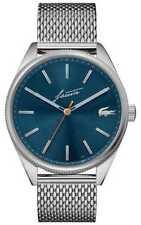 Lacoste Men's Heritage   Stainless Steel Mesh   Blue 2011053 Watch