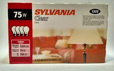 4 pack, 75W, Watt  Incandescent Clear Bulbs - Sylvania 130V, Medium (Lamp) Base