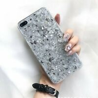 For iPhone 7Plus 8Plus Case Clear Bling Glitter Protective Hard PC Bumper Cover