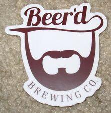 BEERD BREWING CO Hobbit Juice die cut LOGO STICKER decal craft beer brewery